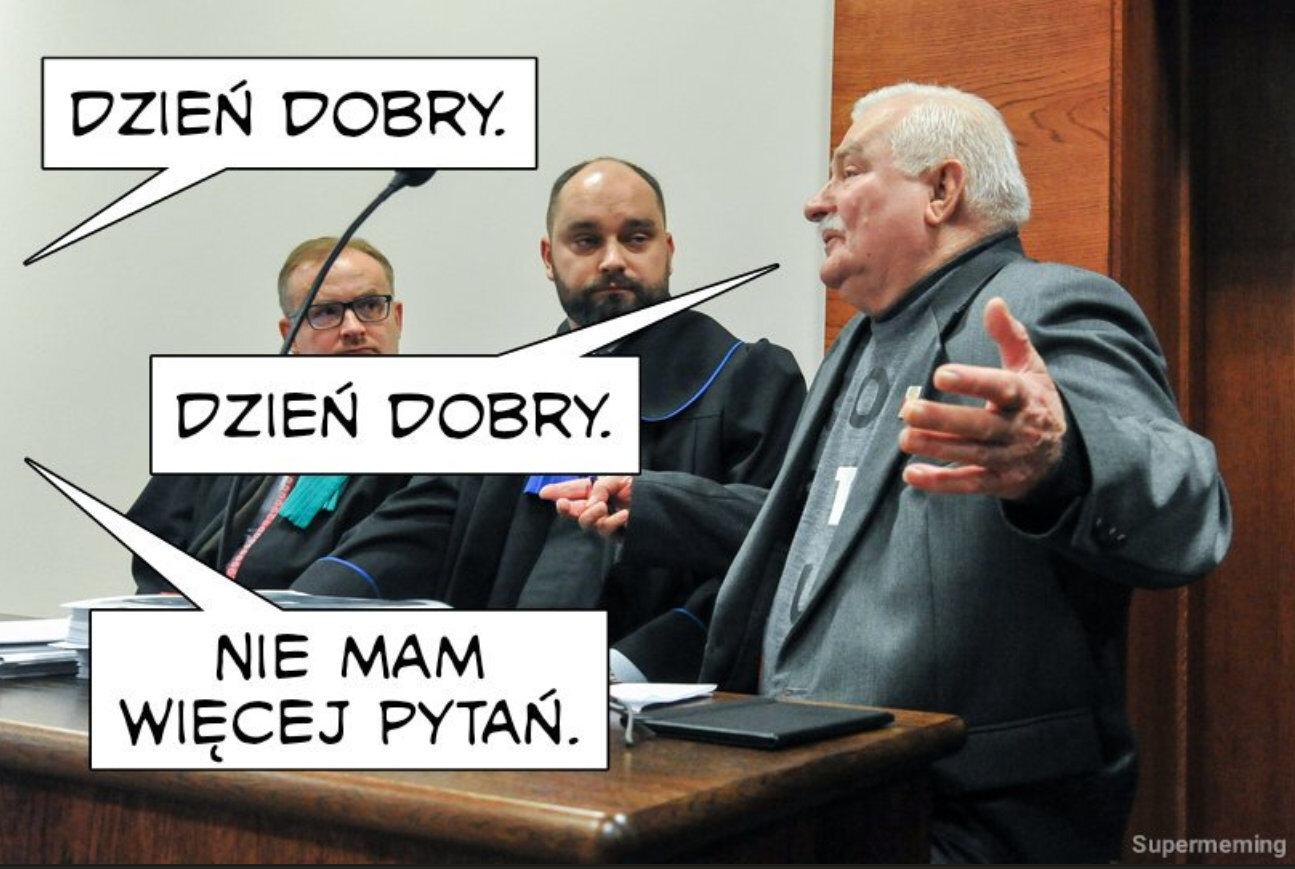 Wałęsa i Kaczyński w sądzie. Memy
